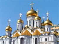What does a number of cupolas on a church signify?