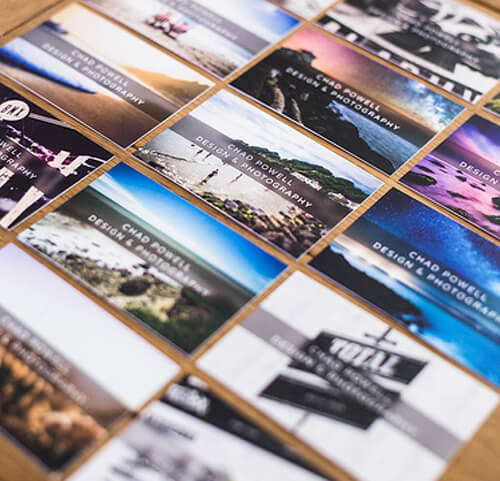 chad powell photographer business card