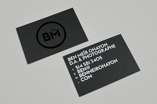 bm photographer business card
