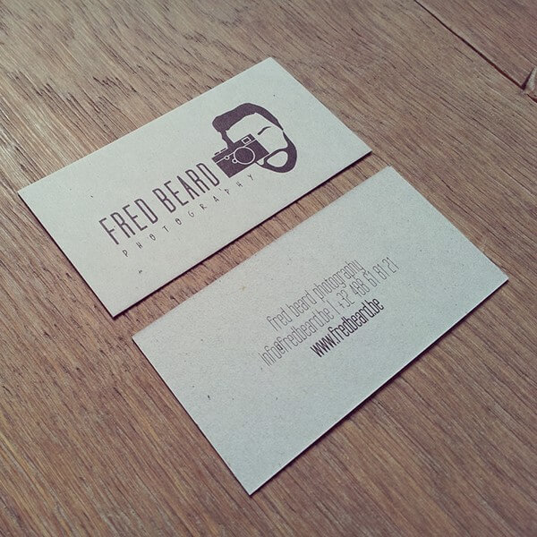 fred beard photography business card