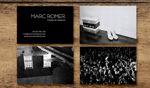 marc romer photography business card