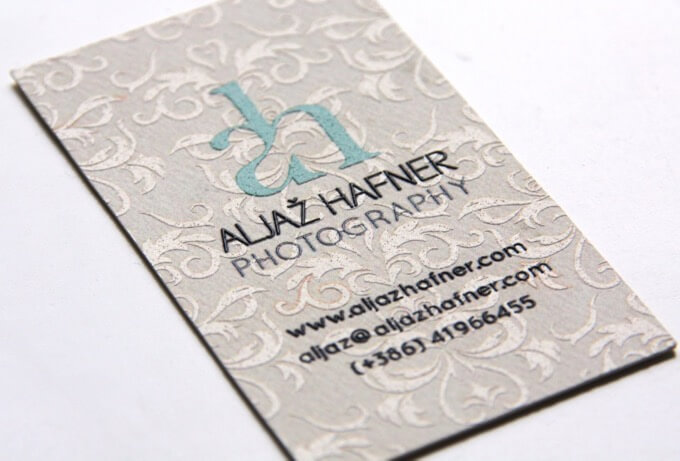 Aljaž Hafner Photography photography business card