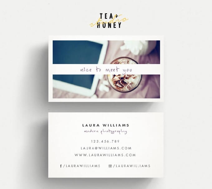 TeaAndHoneyStudio - Photographers Business Card