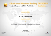 19 место среди бизнес-школ Восточной Европы