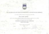 Диплом о прохождении обучения по международной программе Executive MBA